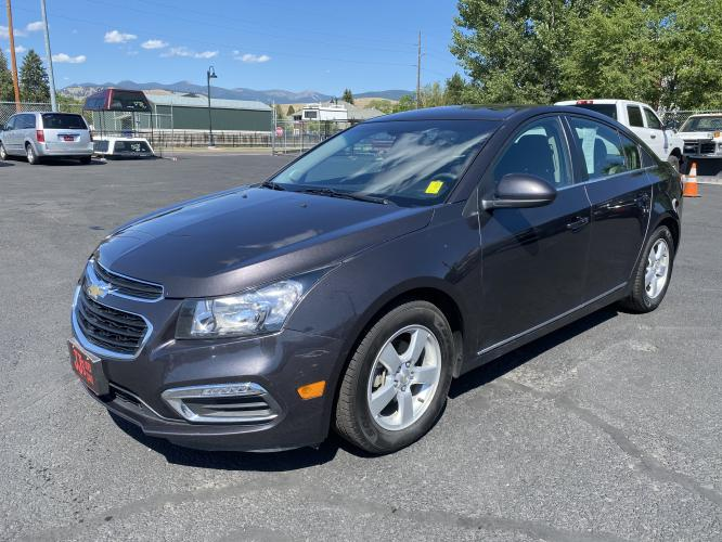 2015 Gray Chevrolet Cruze LT (1G1PC5SBXF7) with an 1.4L engine, Automatic transmission, located at 100 S Russell St., Missoula, MT, 59801, (406) 721-7467, 46.870090, -114.018066 - Photo #0