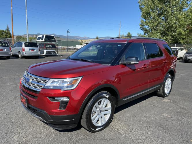 2018 Red Ford Explorer XLT (1FM5K8D82JG) with an 3.5L engine, Automatic transmission, located at 100 S Russell St., Missoula, MT, 59801, (406) 721-7467, 46.870090, -114.018066 - Photo #0