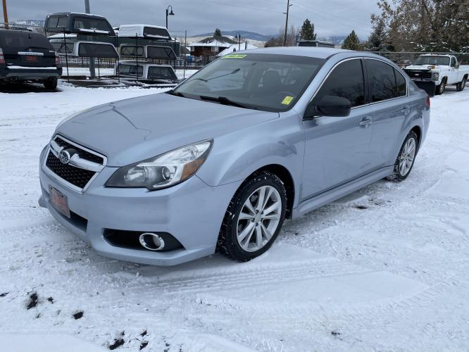 2014 Silver Subaru Legacy (4S3BMBA6XE3) with an 2.5L engine, Automatic transmission, located at 100 S Russell St., Missoula, MT, 59801, (406) 721-7467, 46.870090, -114.018066 - Photo #0