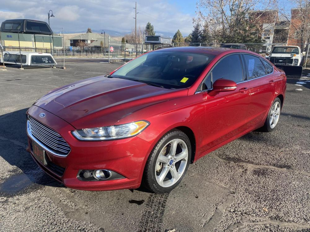 2014 Red Ford Fusion SE (3FA6P0H9XER) with an 2.0L engine, Automatic transmission, located at 100 S Russell St., Missoula, MT, 59801, (406) 721-7467, 46.870090, -114.018066 - Photo #0