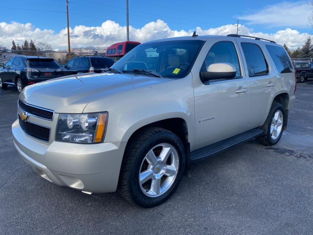 2007 Beige Chevrolet Tahoe LTZ (1GNFK13077R) with an 5.3L V8 engine, Automatic transmission, located at 100 S Russell St., Missoula, MT, 59801, (406) 721-7467, 46.870090, -114.018066 - Photo #0