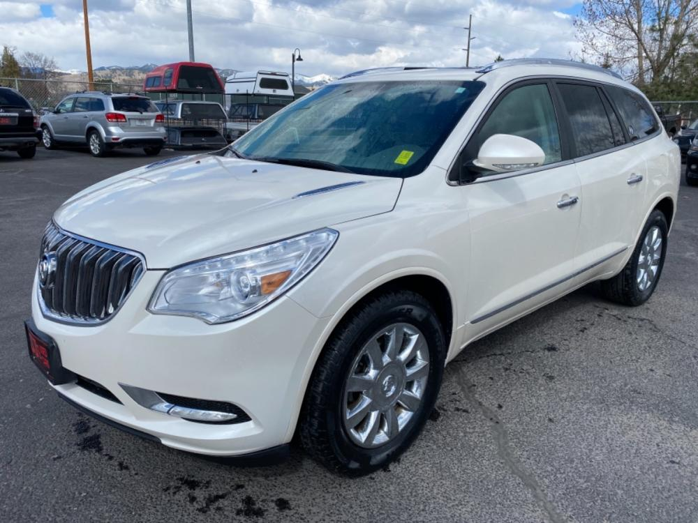 2015 White Buick Enclave (5GAKVBKD8FJ) with an 3.6L engine, Automatic transmission, located at 100 S Russell St., Missoula, MT, 59801, (406) 721-7467, 46.870090, -114.018066 - Photo #0